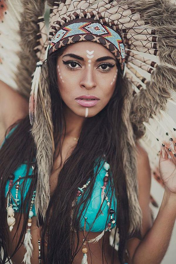 фотосессии в образе индейцев штатива предполагает