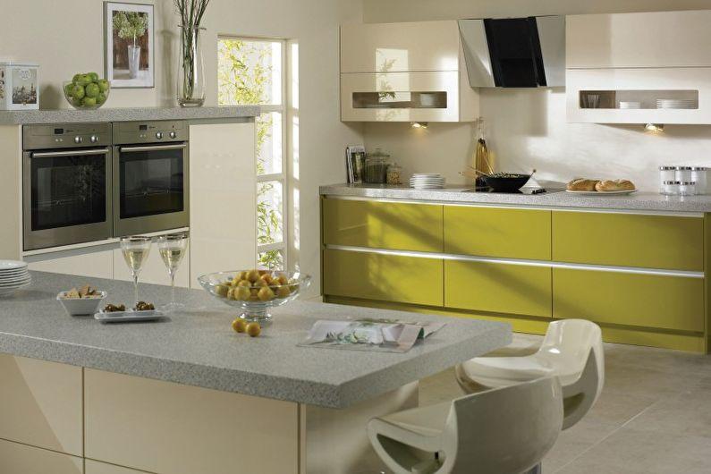 Оливковая кухня (75 фото): идеи дизайна