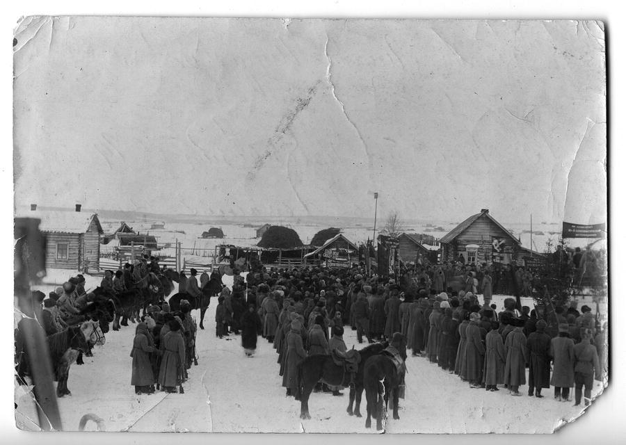 18 января 1920 г. Парад частей 35-й дивизии 5-й Красной Армии и партизан по случаю их прибытия в Щегловск.