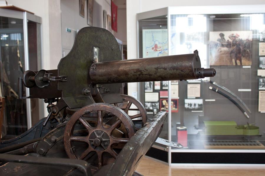 Знаменитый пулемет «Максим», установлен на тачанке