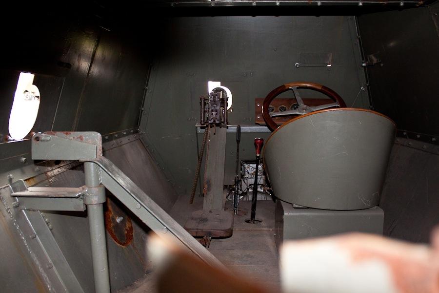 Внутри бронеавтомобиля Руссо-Балт