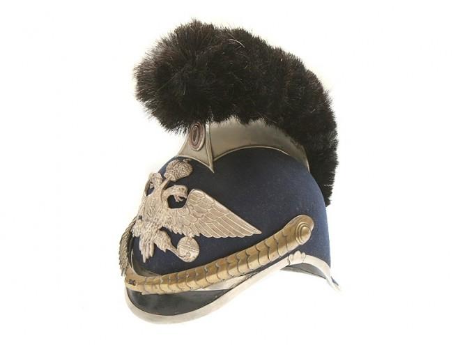 Шлем нижних чинов Отдельного корпуса жандармов образца 1910 г. (почти такой же был у полевых жандармских эскадронов)