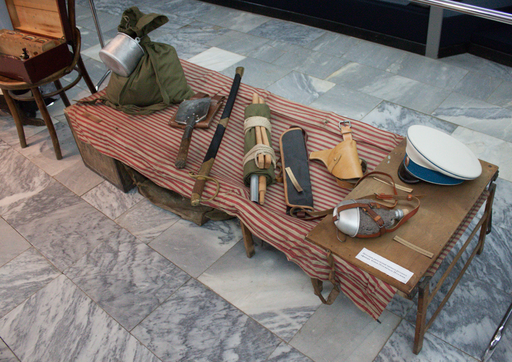 Чемодан-кровать системы поручика И.И.Гинтера и различное снаряжение РИА