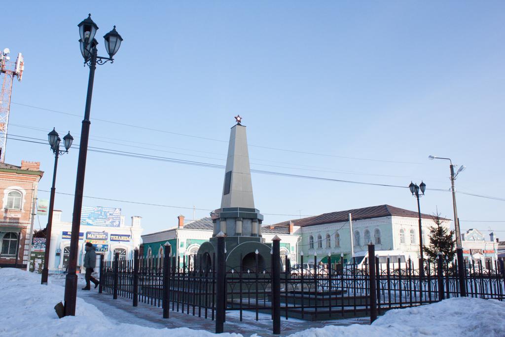 Монумент-братская могила красноармейцам погибшим в Гражданскую войну.